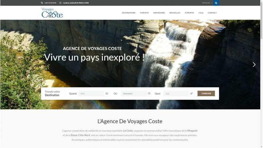 Nouvelle production signée E-novweb : L'Agence de Voyages Coste