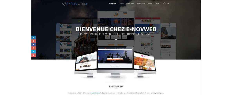Nouveau site Web de l'entreprise E-novweb Janvier 2015