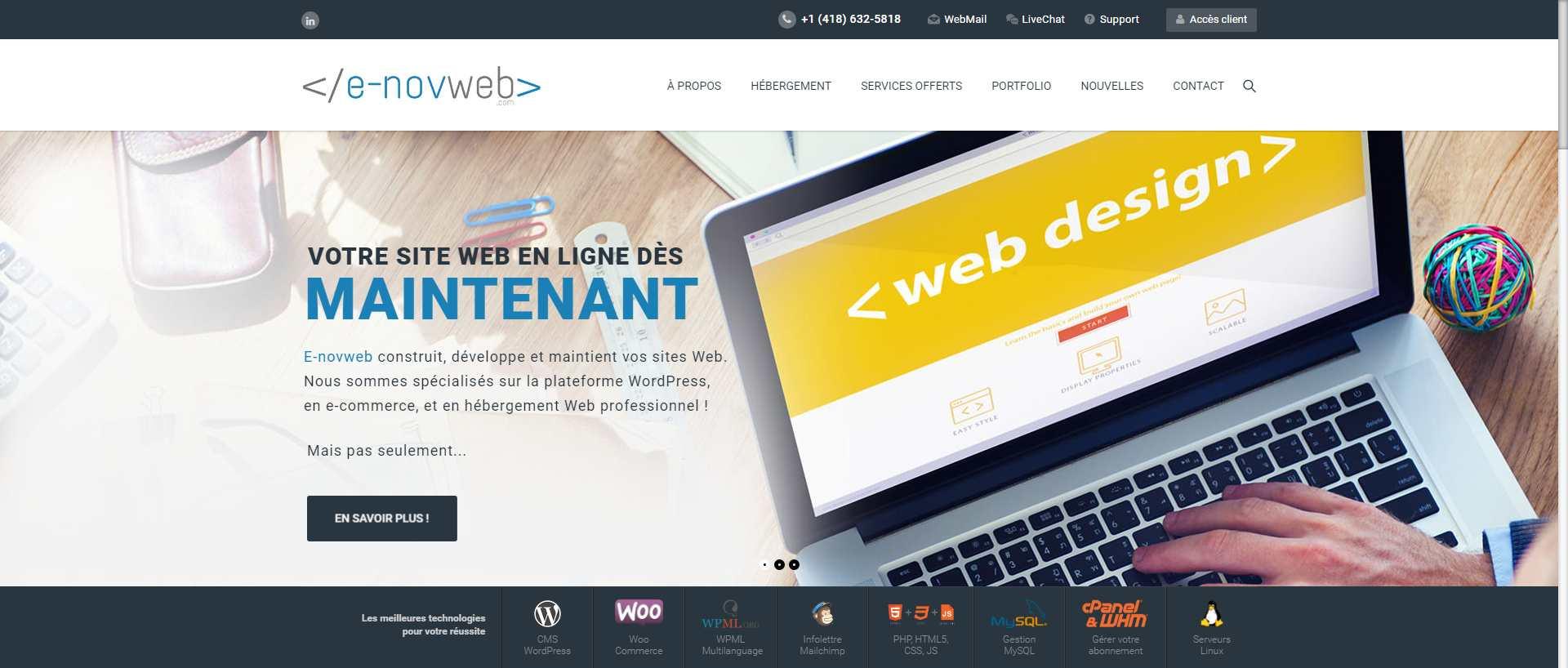 Nouveau site Web E-novweb Décembre 2016
