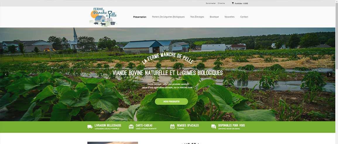 Nouveau site web : La Ferme Manche de Pelle