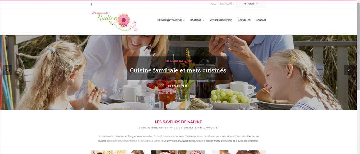 Nouveau site web : Les Saveurs de Nadine v2