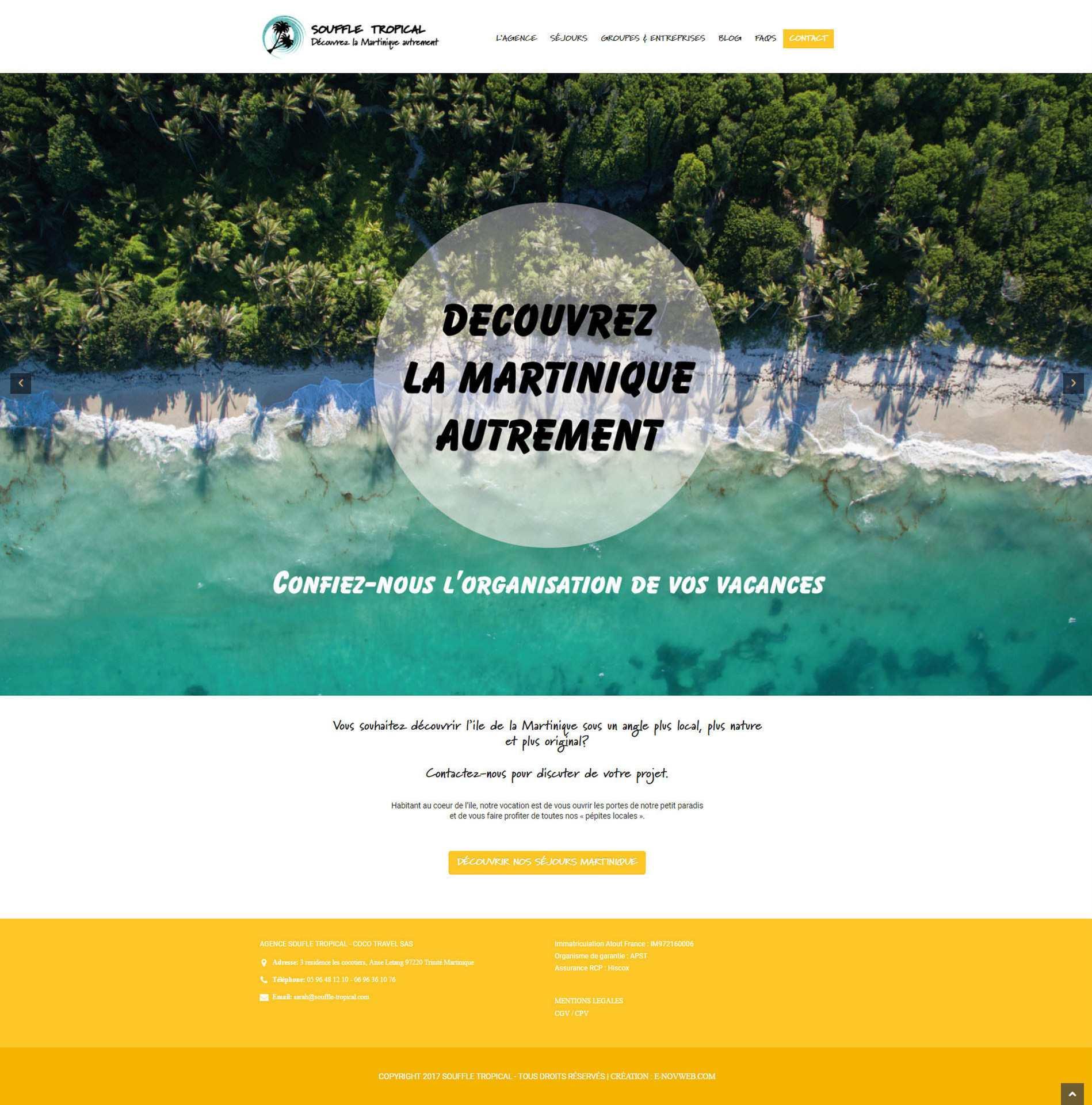 L'Agence de voyages Souffle Tropical V2