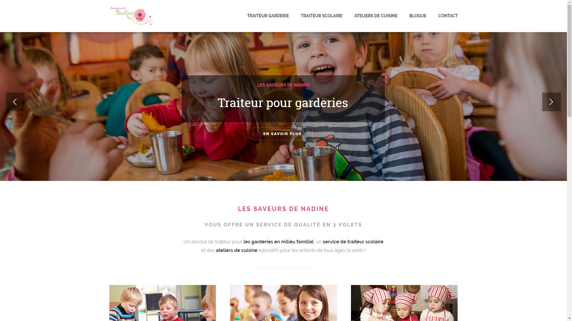 Les Saveurs de Nadine : refonte et nouveau système de réservation