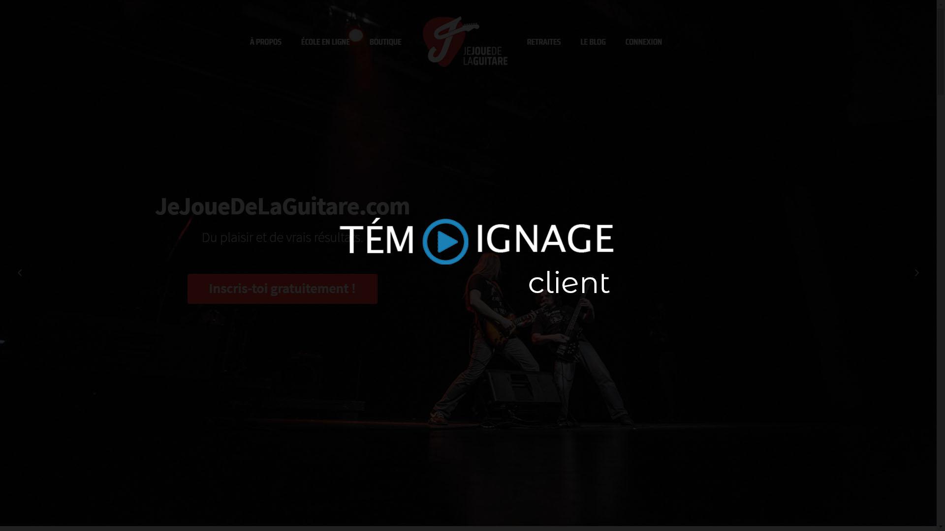 Témoignage client en vidéo : jejouedelaguitare.com